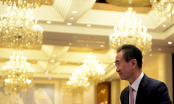 JINAN, CHINA - AUGUST 26: Dalian Wanda Group chairman Wang Jianlin attends a signing ceremony on August 26, 2016 in Jinan, China. Wanda Group will invest 60 billion yuan (about 9 billion U.S. dollars) to build a culture and tourism project, which is planned to cover an area of 692 acres, in Jinan city. (Photo by VCG/VCG via Getty Images)