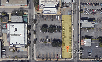 The site between 1601 and 1647 North Las Palmas Avenue