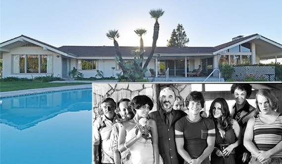 The house at 19515 Cameron Avenue (via Jenny Xu) and the cast of Boogie Nights (Michael Ochs, Getty Images)