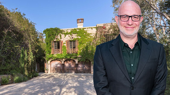 Akiva Goldsman and his house at 1410 Davies Drive (Credit: Getty, The Agency)