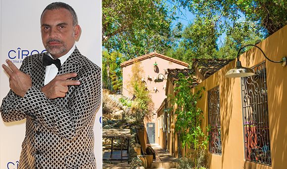 Christian Audigier and his property at 2083 North Topanga Canyon Boulevard (Credit: Getty, Zillow)