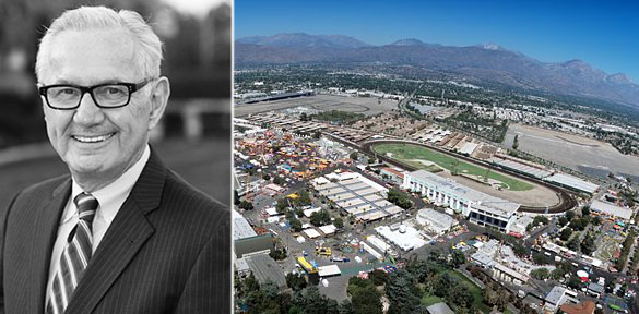 Former L.A. County Fair Association executive James Henwood, Jr., and Fairplex at