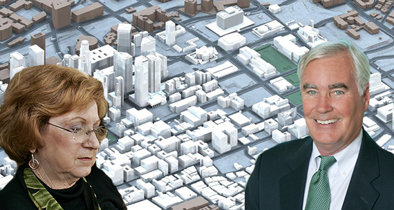 Gail Goldberg (Getty) Con Howe (CityView) and a model of DTLA (AIA LA)