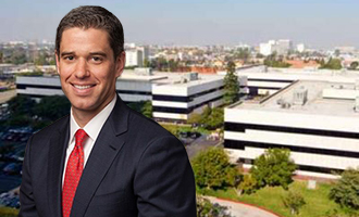 David Binswanger of Lincoln Property and one of the offices at 390 Sepulveda Boulevard