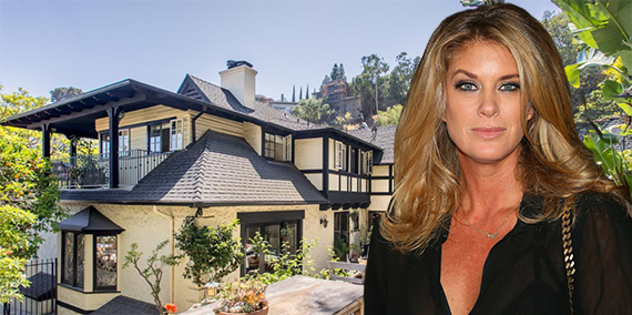Rachel Hunter and her home at 1644 North Crescent Heights Boulevard (Credit: Getty)