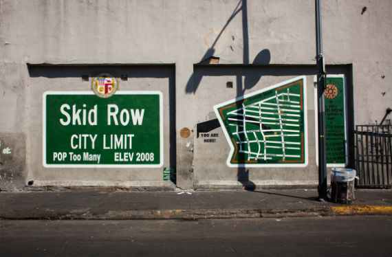 Skid Row, in Downtown Los Angeles.