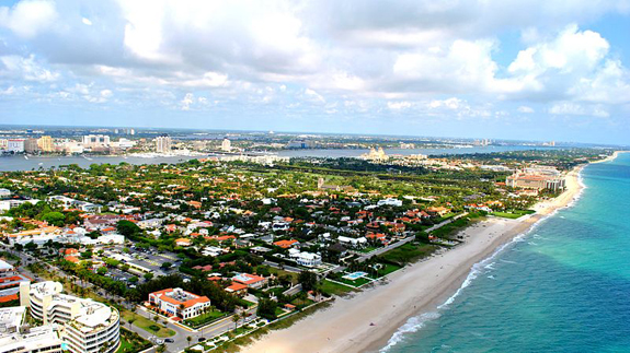 Aerial view of Palm Beach County
