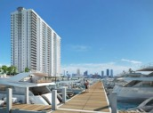 A rendering of Marina Palms Yacht Club &amp; Residences
