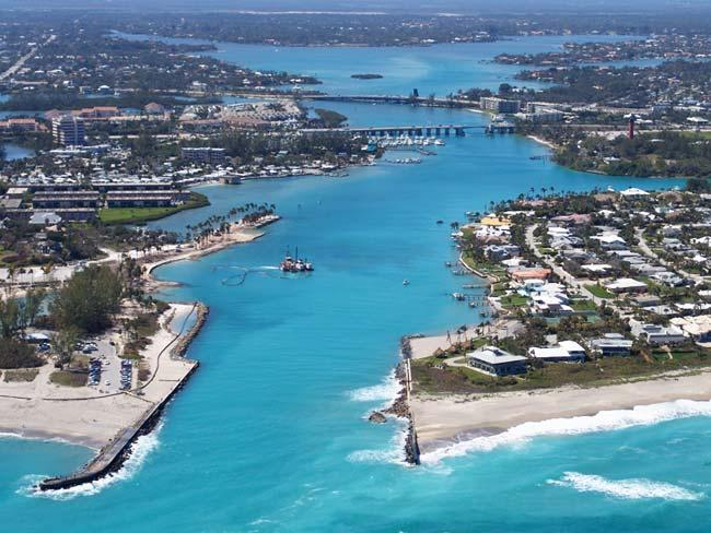 Palm Beach County from the sky