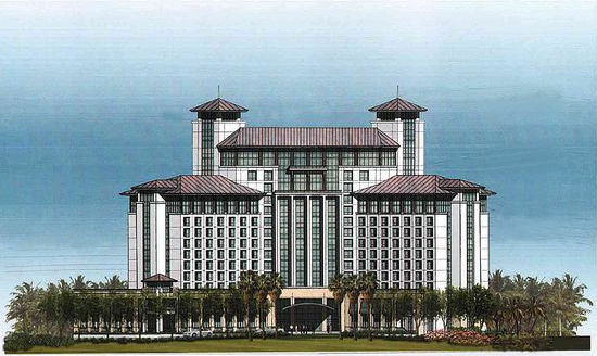 Rendering of Related Cos.' Hilton Hotel in West Palm Beach