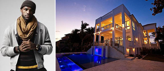 From left: Lebron James and his Coconut Grove home