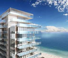 Rendering of proposed Glass tower