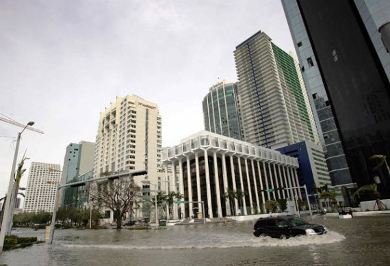 Downtown Miami after Hurricane Wilma