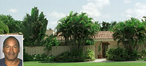 9450 SW 112th St., Kendall (inset: O.J. Simpson)