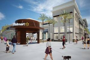 A rendering of the proposed Wal-Mart at 3055 North Miami Avenue