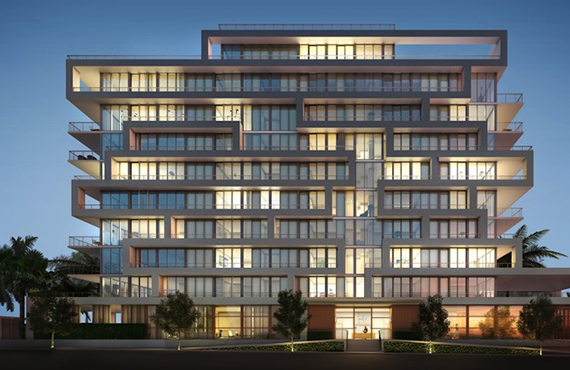 Rendering of the exterior of Beach House 8