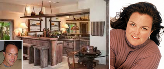 Jupiter Inlet Colony house and Rosie O'Donnell (inset: contractor Christopher Pariseleti)