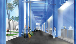 Rendering of Sou Fujimoto building for the Design District