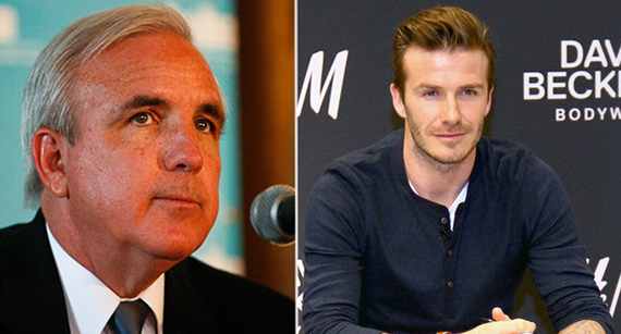 Carlos Gimenez and David Beckham