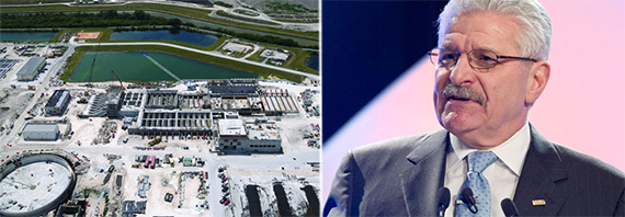South District Wastewater Secondary Treatment Plant and AECOM's John Dionisio