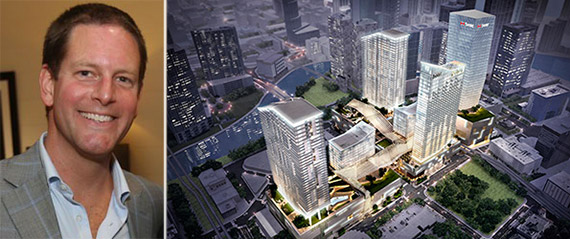 From left: Matthew Lazenby and rendering of Brickell CityCentre