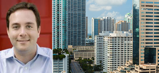 From left: Spencer Rascoff, chief executive of Zillow and downtown Miami (Credit: Shutterstock)
