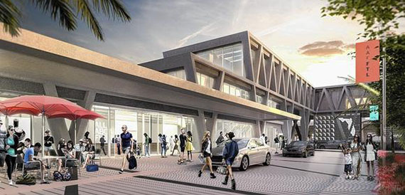 Renderings of All Aboard Florida's new transit hub