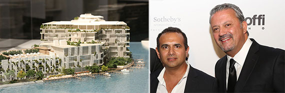 From left: the proposed Ritz Carlton Residences in Miami Beach and Ophir Sternberg and George Mato