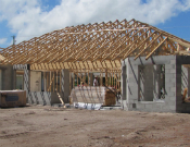 South Florida home under construction.