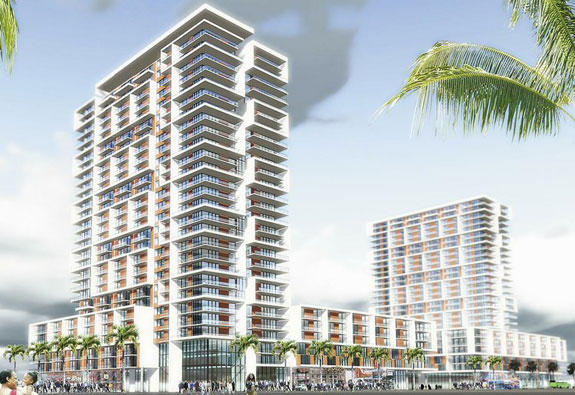 A rendering of the Overtown Gateway project