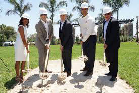 The ground breaking ceremony at Central Parc