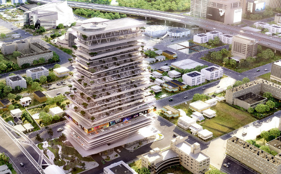 A rendering of EE Miami