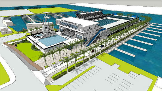 A rendering of the proposed Fort Lauderdale Aquatic Center