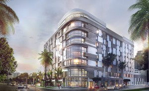 Rendering of a Hampton Inn in Midtown Miami that Katz is building