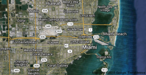 Map of Miami suburbs