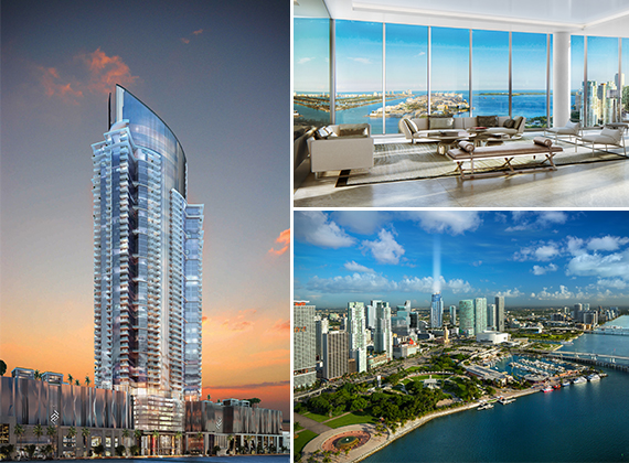 Renderings of the Paramount Miami Worldcenter project