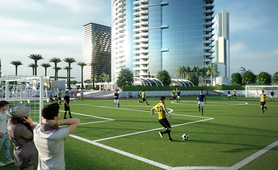 Worldcenter soccer field rendering