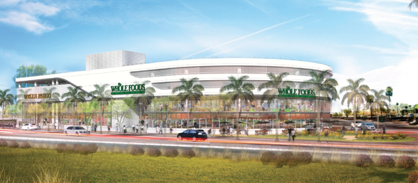 Rendering of the the new Whole Foods on Alton Road