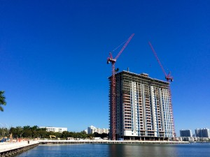 Topping off Marina Palms' first tower