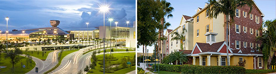 Miami International Airport and a TownePlace Suites