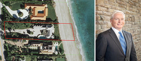 Aerial view of 11610 Turtle Beach Road and Edward Stack