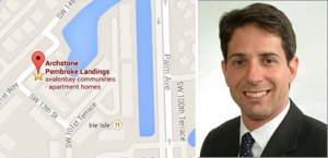 Apartment complex at 10101 Southwest 101 Way in Pembroke Pines and Keith Rosenthal, president of Phoenix Realty Group