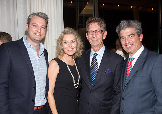 Brent Campbell, Kathy Ireland Mitchell, Andy Mitchell and Carlos Rosso