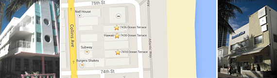 Ocean Surf Hotel, map of hotels sold and Hawaii Hotel