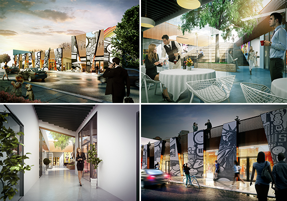 Renderings of Wynwood Arcade