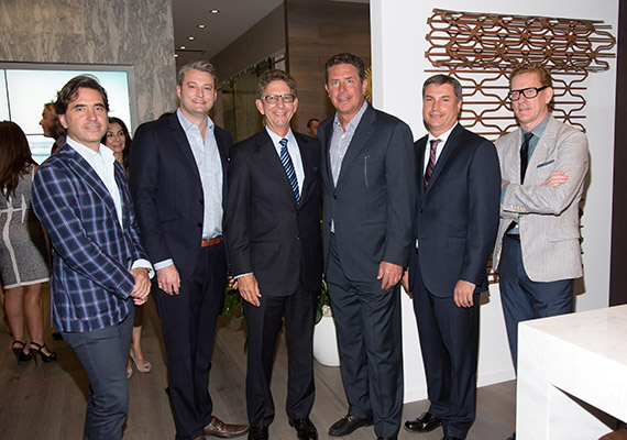 Will Meyer, Brent Campbell, Andy Mitchell, Dan Marino, Patrick Campbell and Gray Davis