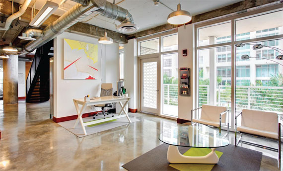 Büro Miami features open areas as well as private suites.
