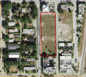 The vacant lot in Delray Beach