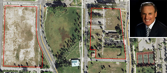 The vacant lots on North Flagler Drive in West Palm Beach and BBX Capital Corp. CEO Alan levan