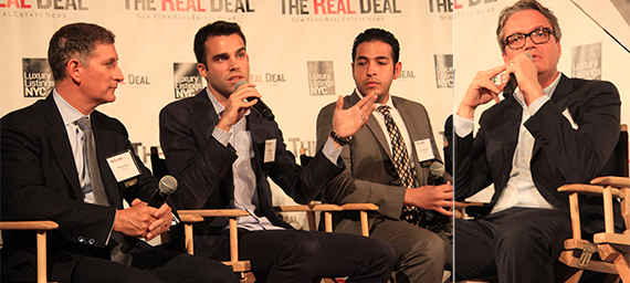From left: Marty Burger, Dan Miller, Rodrigo Nino and Allen Shayanfekr at The Real Deal's New Development Showcase and Forum (credit: Eileen AJ Connelly)